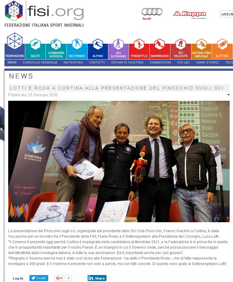 Rassegna Stampa Conferenza di Presentazione 34° edizione